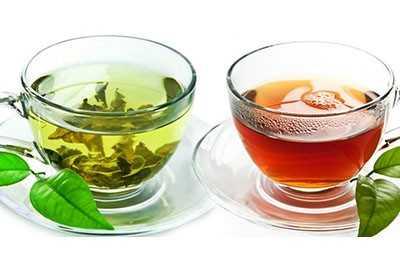 Чай зеленый и черный